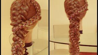 Коса через косу  Видео урок