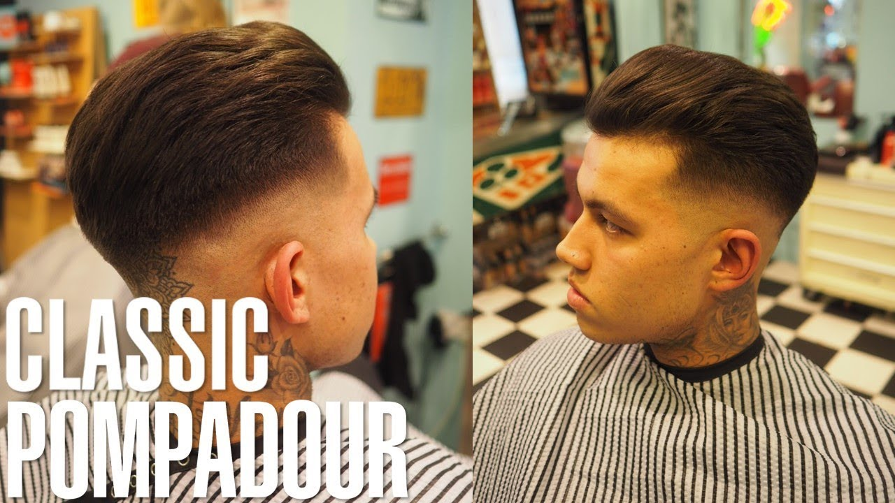 How to Style: Classic Pompadour with Skin Fade Haircut Tutorial | Johnny's  Chop Shop