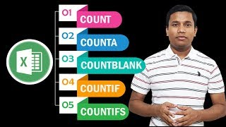How to use COUNT, COUNTA, COUNTBLANK, COUNTIF, COUNTIFS formula in MS Excel ?