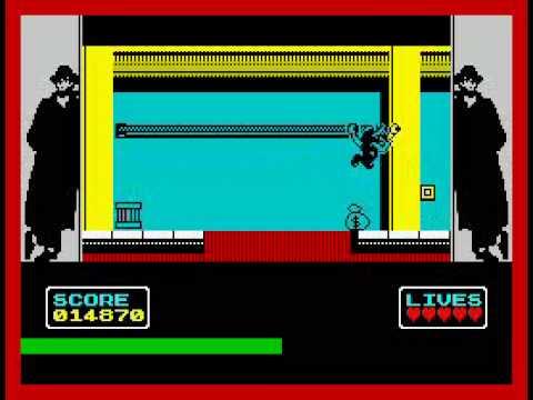 ZX Spectrum - Hudson Hawk 128k gameplay, cracktro, music