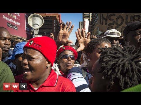 Security personnel strike in Pretoria