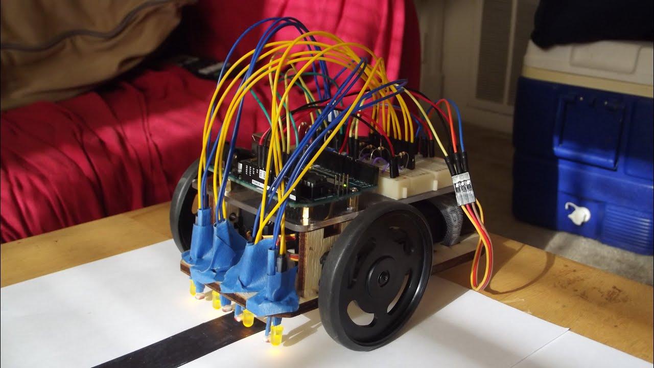 Arduino uno line following robot youtube