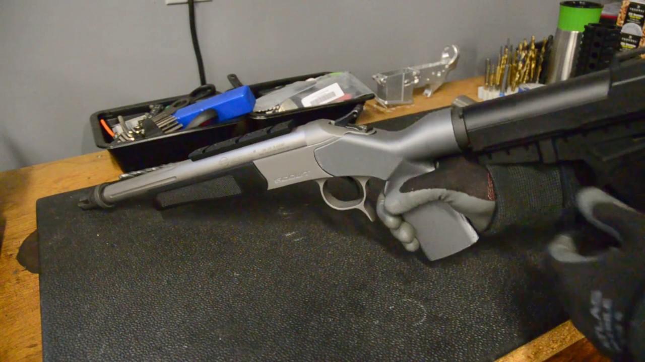 CVA Scout 3d Printed Pistol Brace Adapter by Guy in a garage