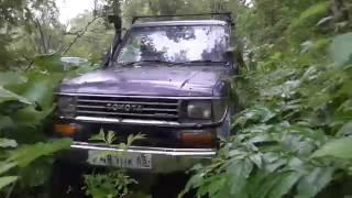 Toyota Land Cruiser Prado. Путешествие по джунглям Сахалина. Углегорск.(Разведка труднопроходимой местности на мощном внедорожнике., 2016-08-09T20:17:10.000Z)