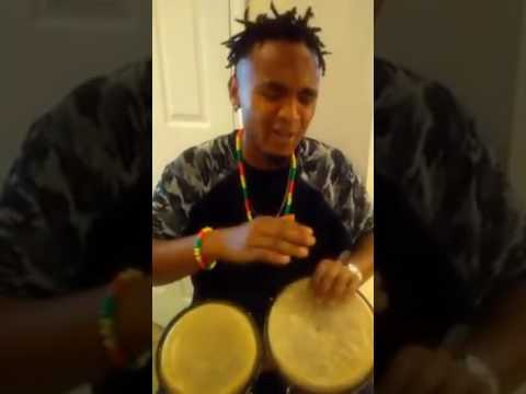 Playing Drums and Singing Some Cape Verdean Song Beto Dias