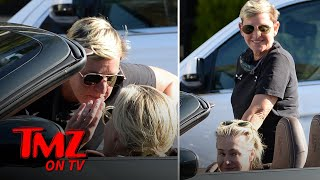 Ellen DeGeneres Flirts with Portia in Porsche During Quarantine Dinner Run | TMZ