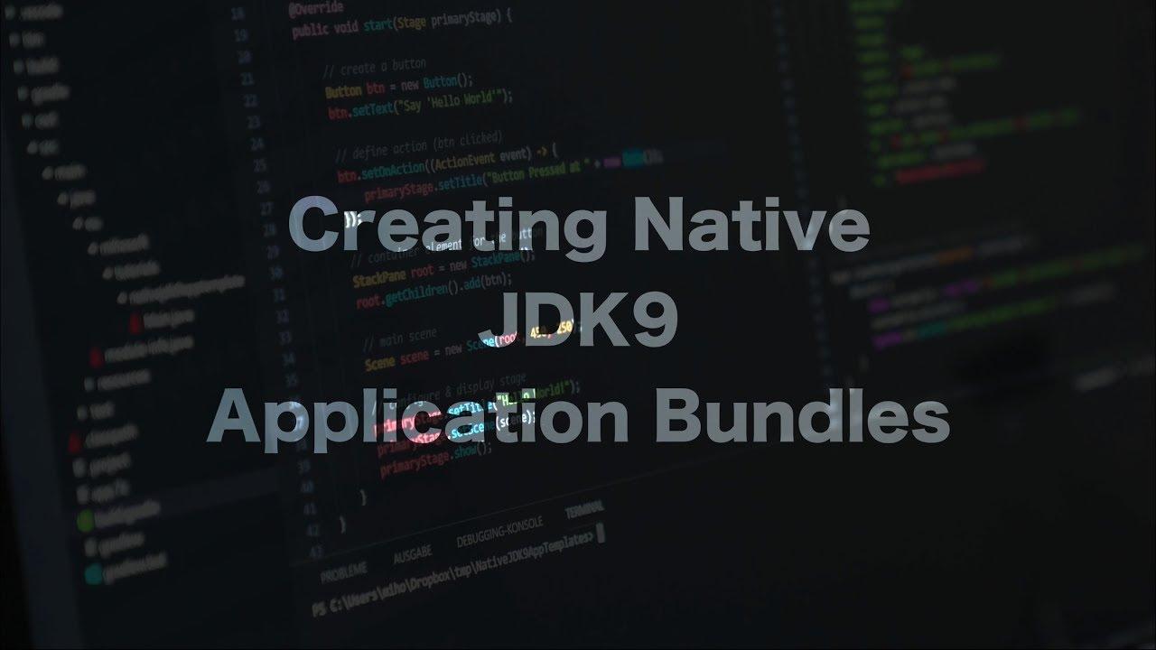 Native JDK9 Application Bundles