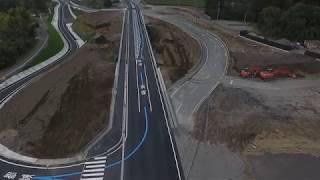 都城志布志道路 有明東IC橋完成に伴い、迂回路から本線へと切り替え完了...