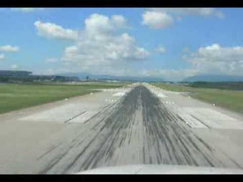 Landing at Geneve C500 cockpit view
