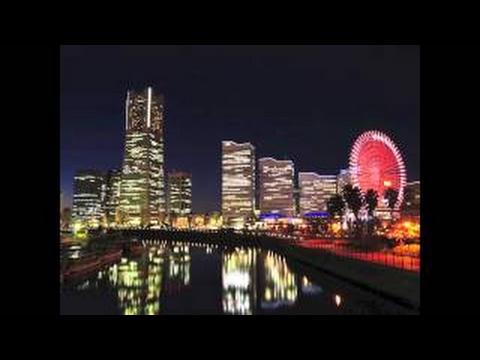 YOKOHAMA Night Japan Relaxing Music,Background Guitar Music,Instrumental Music.
