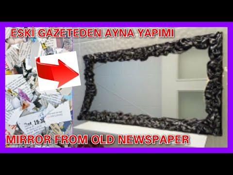 Eski Bez Ve Gazetelerle şık Aynalar Yapalım Youtube