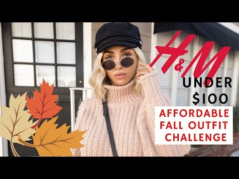 AFFORDABLE FALL FASHION CHALLENGE UNDER $100 AT HM + EAST COAST V WEST COAST BLOGGER STYLE