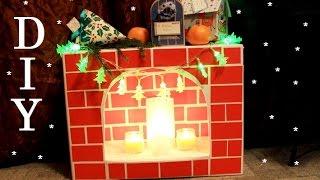 DIY: Новогодний декор СВОИМИ РУКАМИ / Декоративный камин своими руками | VeneraDIY