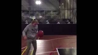 Tom Davies basket ball trick shot!