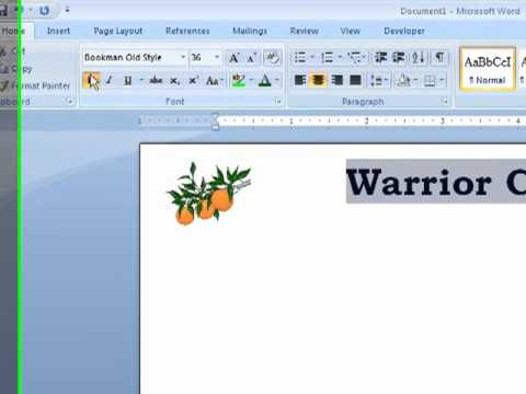 Word - How to Create Letterhead in a Word Document - YouTube