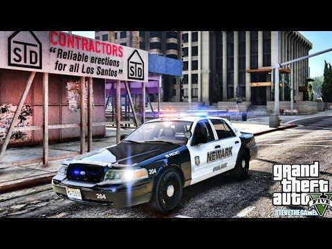 GTA 5 MODS LSPDFR 0.4.1 - NEWARK POLICE PATROL!!! (GTA 5 REAL LIFE PC MOD) CVPI