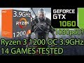 Ryzen 3 1200 OC 3.9GHz paired with a GTX 1060 - Enough for 60 FPS at 1080p? - 14 Games Tested