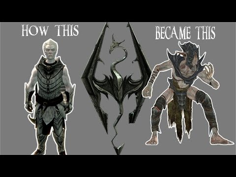 Skyrim Remastered The History of the Falmer and Snow Elves with console mods