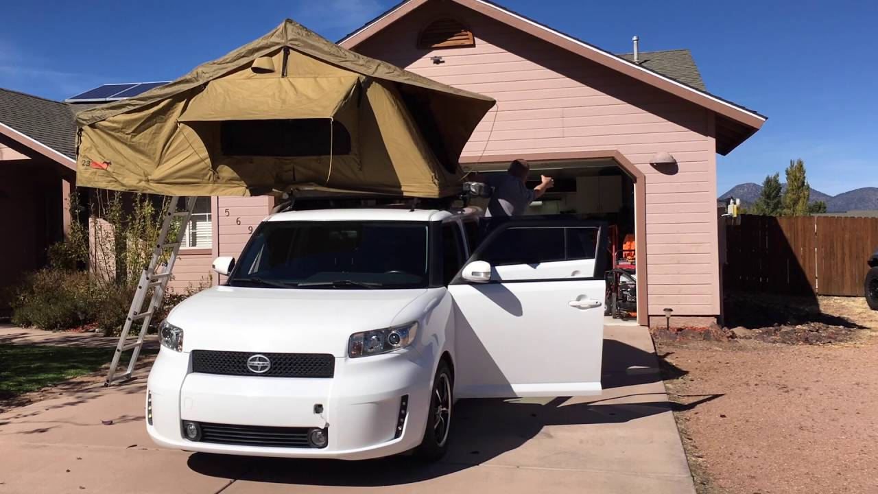 23 Zero Roof Top Tent Quick Install On 2009 Scion Xb The