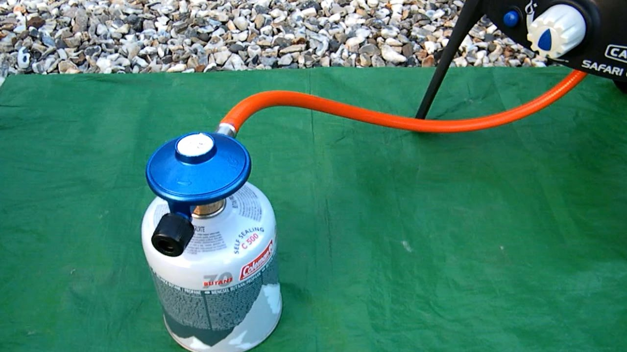 Connecting a Gas Canister to the Safari Chef 2 LP BBQ