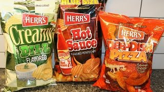 Herr's: Creamy Dill, Hot Sauce & Deep Dish Pizza Cheese Curls & Potato Chips Review
