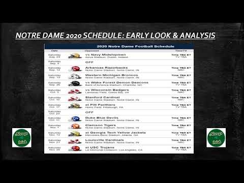 Notre Dame Football : 2020 Schedule Preview