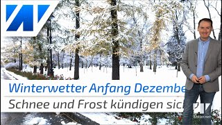 Anfang Dezember Schnee bis ins Flachland möglich! Das Wetter von heute (22.11.2019)
