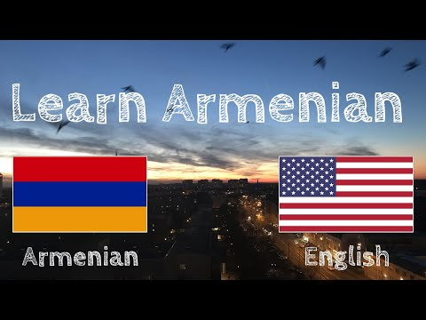 Learn before Sleeping - Armenian (native speaker)  - without music
