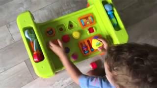 Развивающая игрушка для малышей - обучающий столик. Распаковка игрушек и обзоры :)