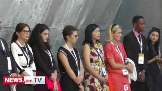 «Ավրորա» ի  շրջանակում Հայաստան այցելած հյուրերն ու նոմինանտներն այցելել են Ծիծեռնակաբերդ