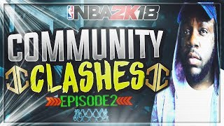 INTENSE $200 MYTEAM WAGER! HIS ALL GOLD TEAM DOESNT MISS! NBA 2K18 COMMUNITY CLASHES EP.02
