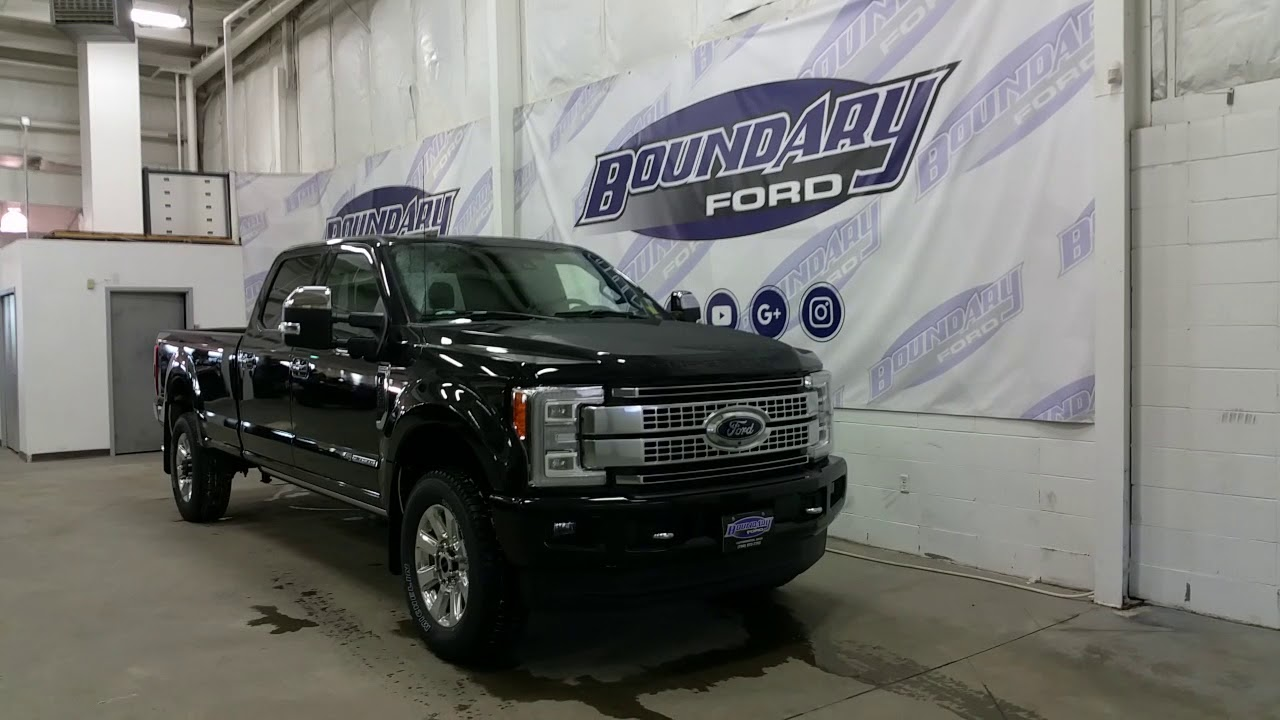 2018 Ford F-350 SuperDuty Platinum W/ 5th Wheel Package, Overview | Boundary Ford - YouTube