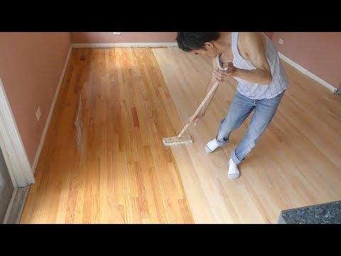 Refinishing hardwood floor(My house remodeling project  # 4)