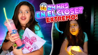 24 HORAS EN EL CLOSET😱 El Susto de mi VIDA! 😱😱😱 | Team Angel😍 | Leyla Star💫