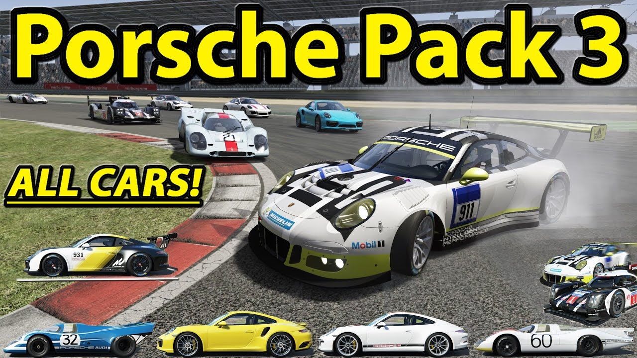 Assetto Corsa Porsche Pack 3 All Cars Comparison Youtube