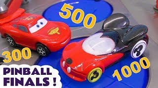 Hot Wheels DC Comics & Marvel Avengers 4 Pinball Challenge Finals vs Pixar Cars 3 McQueen & More