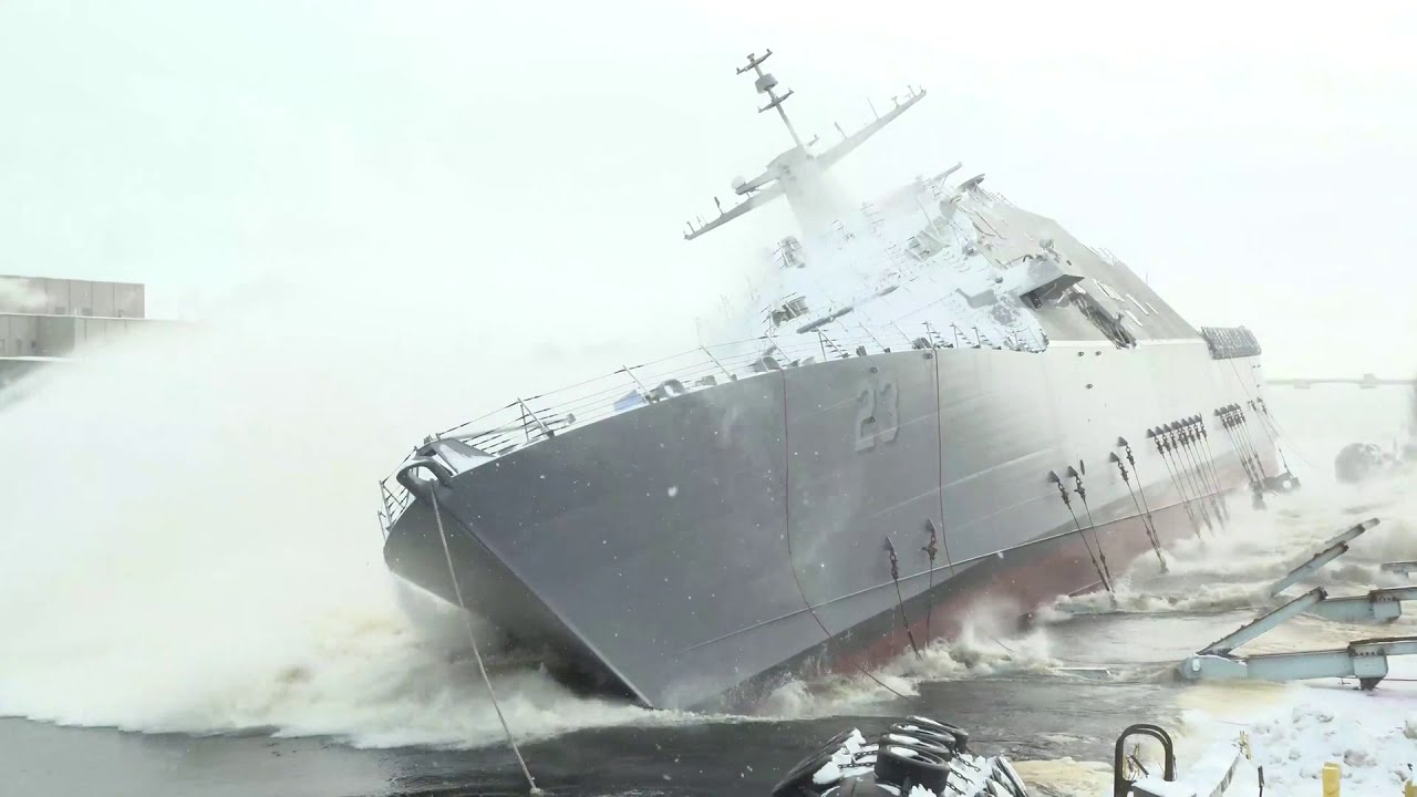US Navy – LCS 23 (Cooperstown) Launch & Christening