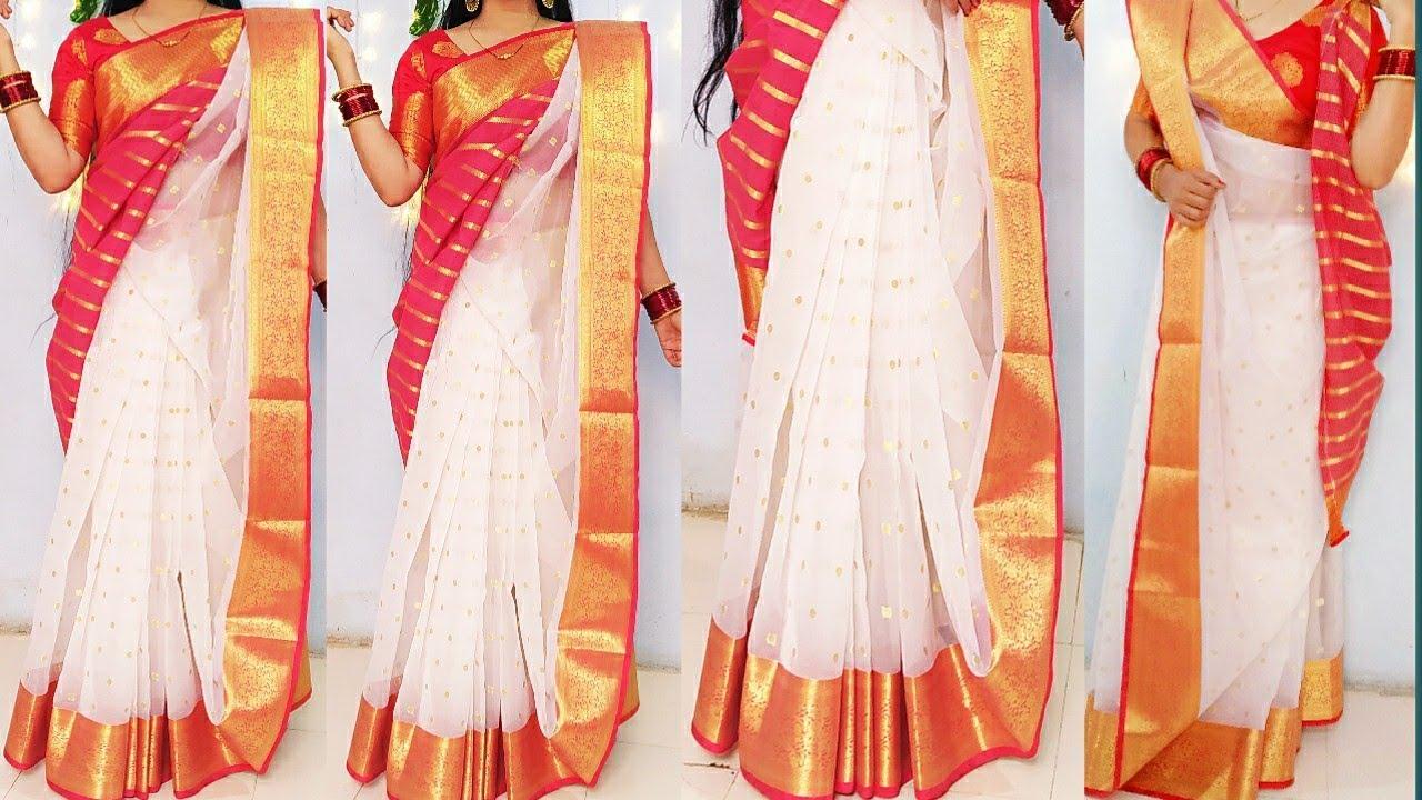 Download Bengali saree draping/Tow style wear bengali saree/saree wearing, bengali saree tutorial/saree drape