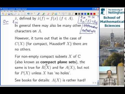 Lecture 31 - Commutative Banach Algebras, printed slides 19-29