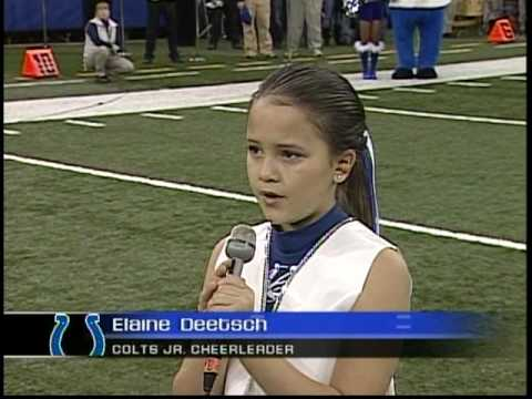 2007 Lainie Deetsch sings National Anthem for  Indianapolis Colts