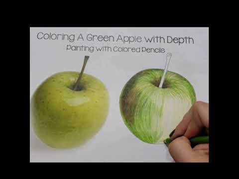 learn-how-to-color-green-apple