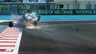 Rosberg's Frightening Crash In Abu Dhabi | 2012 Abu Dhabi Grand Prix