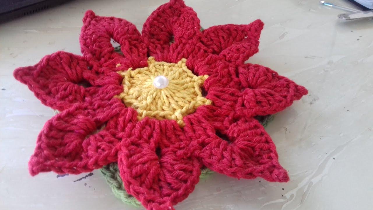 Passo A Passo Da Flor Tais Thais Em Crochê Com Cristina Coelho Alves