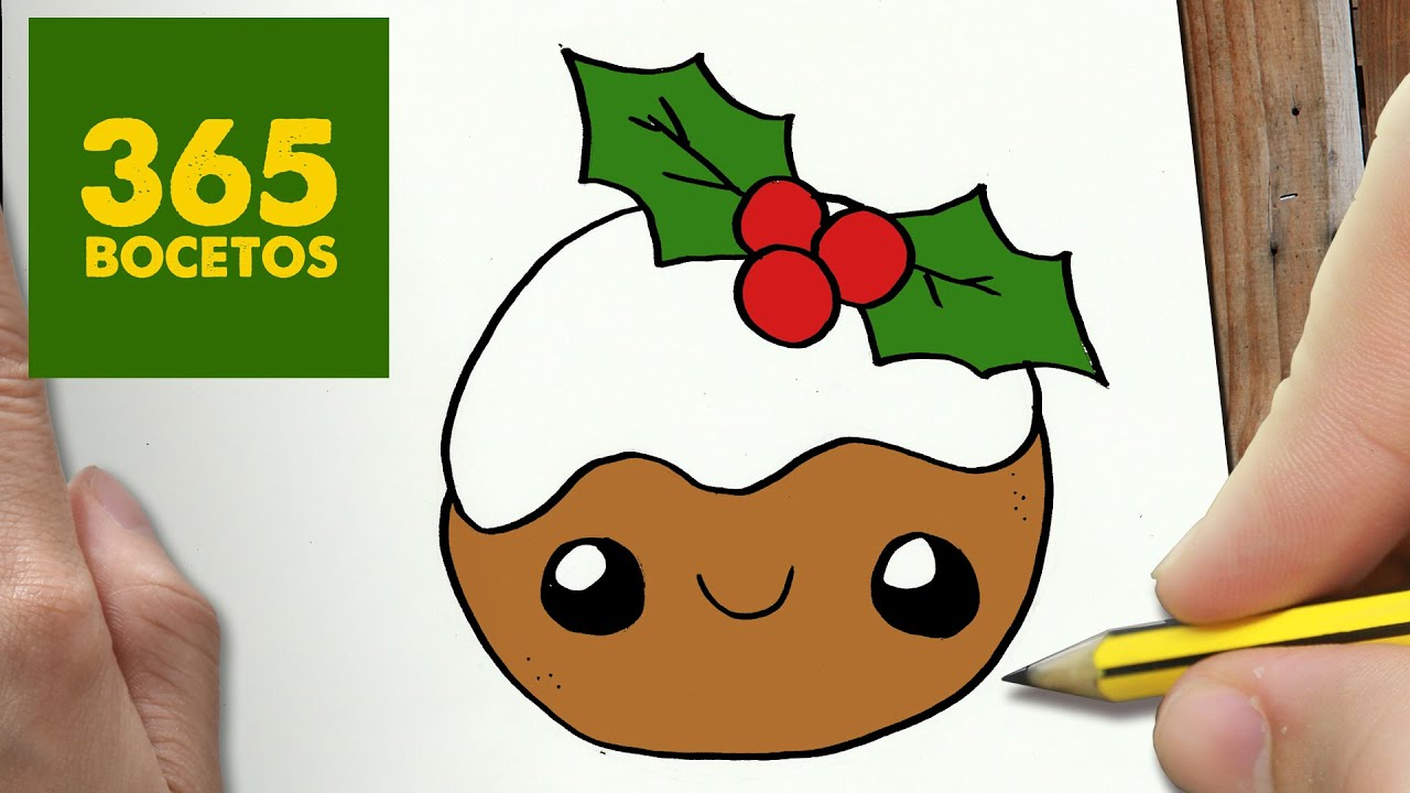 COMO DIBUJAR UNA GALLETA PARA NAVIDAD PASO A PASO Dibujos kawaii navideños , How to draw a cookie , YouTube