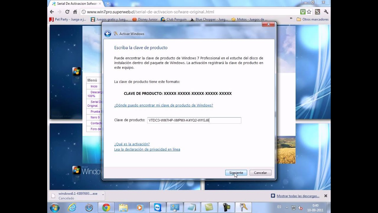 Como activar windows 7 professional
