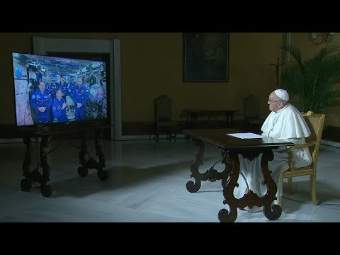 Space Station Crew Holds an Out of this World Audience with the Pope