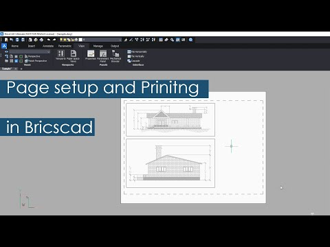 BricsCAD Page Setup In Layout And Printing
