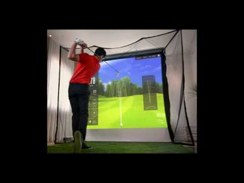 Gentil 5 Star Golf Simulator Projection Screen Retractable
