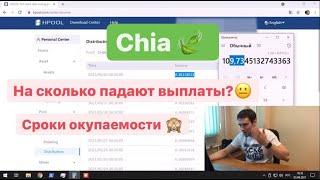 Chia майнинг Сроки окупаемости Падение выплат Подключение плотов по сети