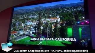 Qualcomm Snapdragon 810 - 4K HEVC encoding/decoding